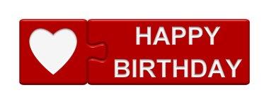Puzzle Button - Happy Birthday