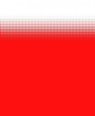 red Background with transitions made of dots