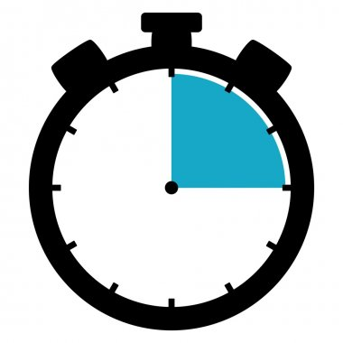 Stopwatch icon - 15 Seconds 15 Minutes or 3 hours