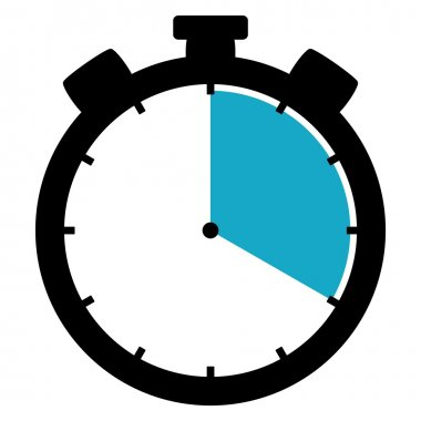 Stopwatch icon - 20 Seconds 20 Minutes or 4 hours
