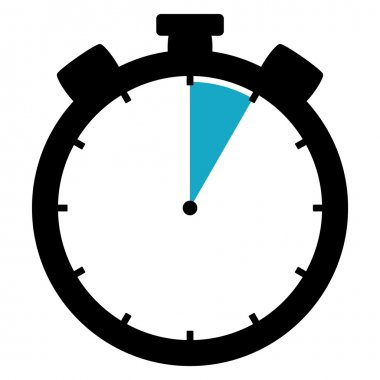 Stopwatch icon - 5 Seconds  5Minutes or 1 hour
