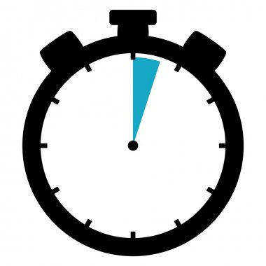 Stopwatch icon - 3 Seconds or 3 Minutes