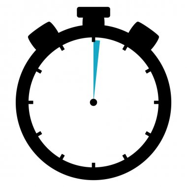 Stopwatch icon - 1 Second or 1 Minute