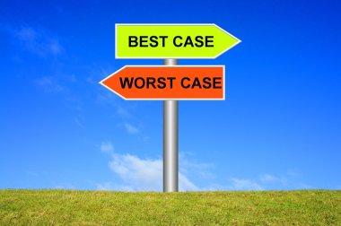 Signpost Best Case or worst case