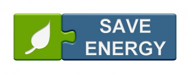 Puzzle Button showing save energy