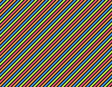 Background black with colored stripes