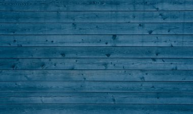Wooden background with blue planks