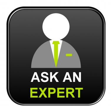 Black Button showing ask an expert