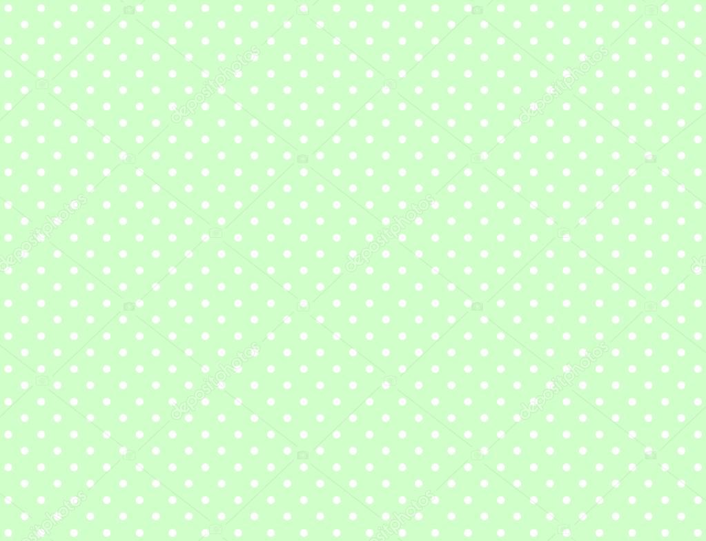green background with white dots