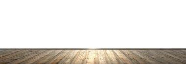 Wooden floor and empty space