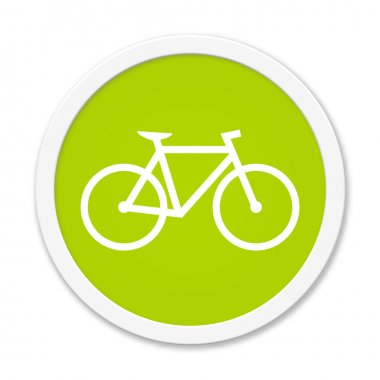 Rund Button showing bicycle
