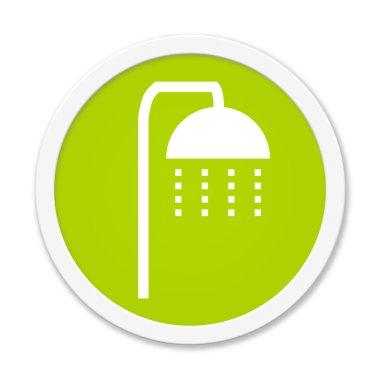 Rund Button showing shower