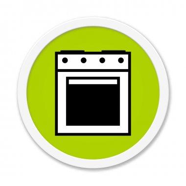 Rund Button showing oven