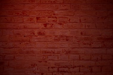 Brick wall red brown