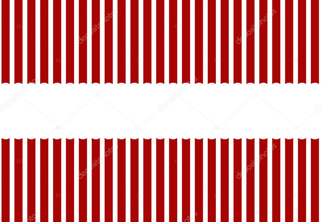 Stripe pattern red and white colors with Copy Space