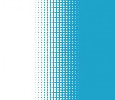 Background transition of dots turquoise white