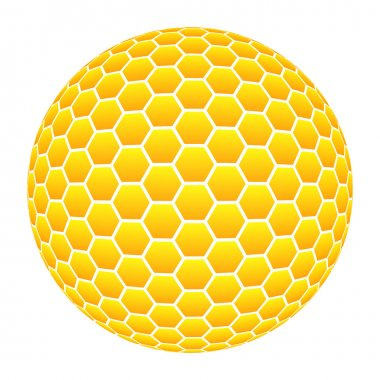 Ball with honeycomb pattern in orange