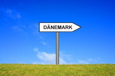 Signpost showing Denmark german