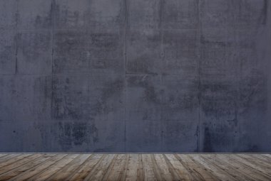 Empty room with grunge wall