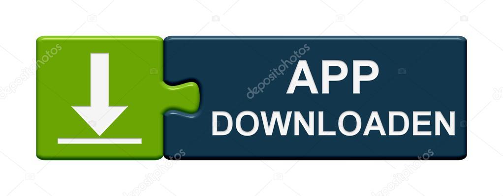 Puzzle Button app download german — Stock Photo © keport
