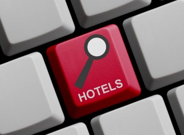 Computer Keyboard: search for Hotels