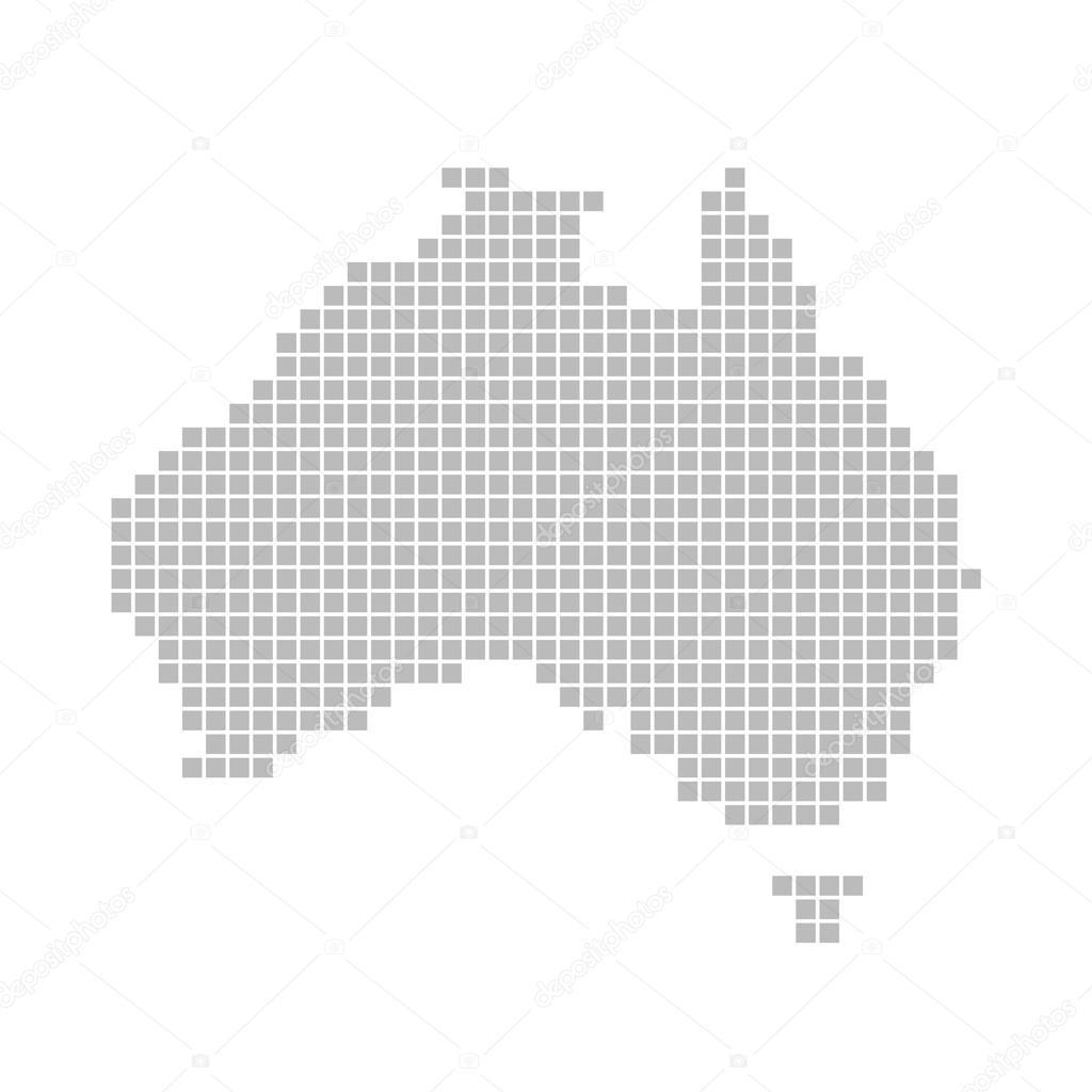 Australia Map Grey.Map Of Australia Grey Dots Stock Photo C Keport 91053716