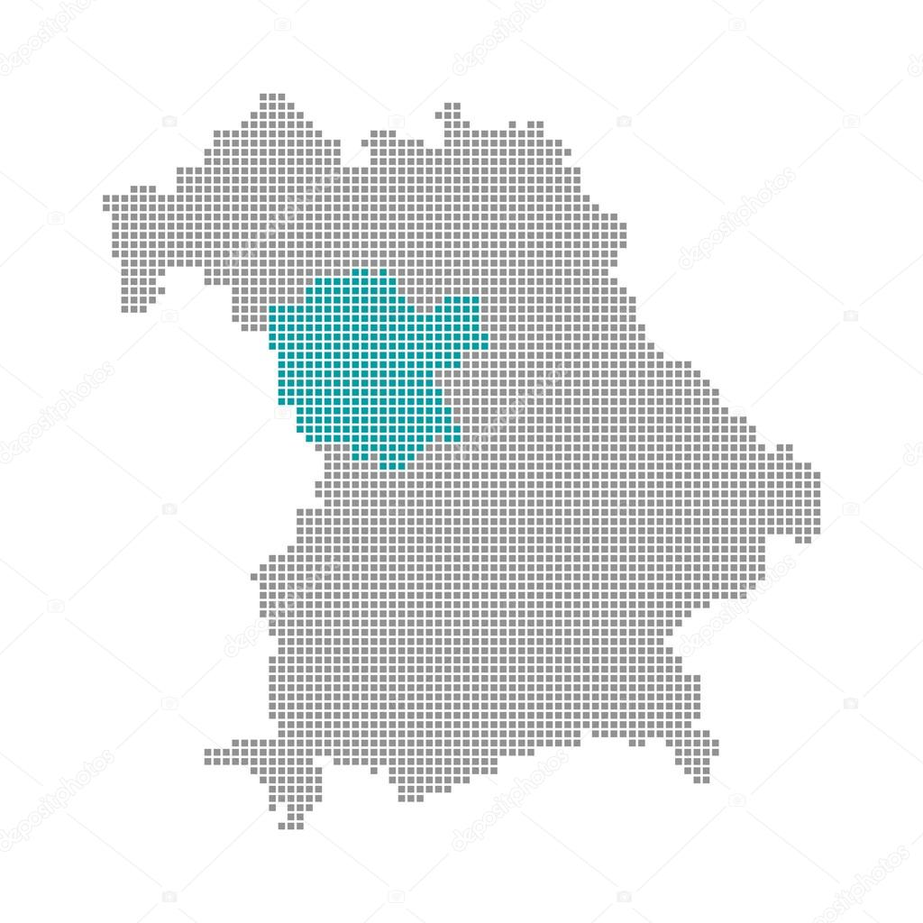 Mittelfranken Karte.Pixel Karte Bayern Mittelfranken Stockfoto Keport 94408542