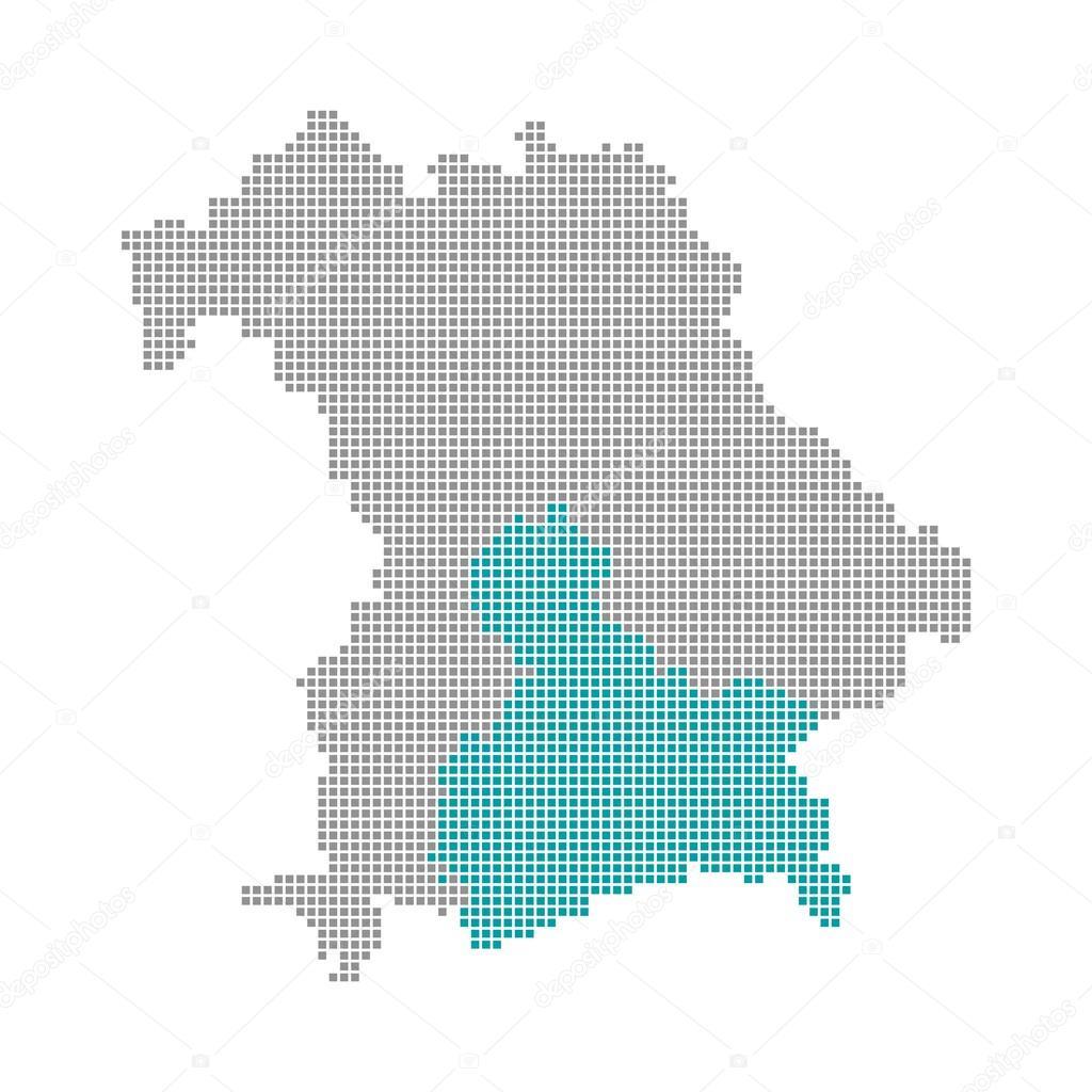 Karte Oberbayern.Pixel Karte Bayern Oberbayern Stockfoto Keport 94408556