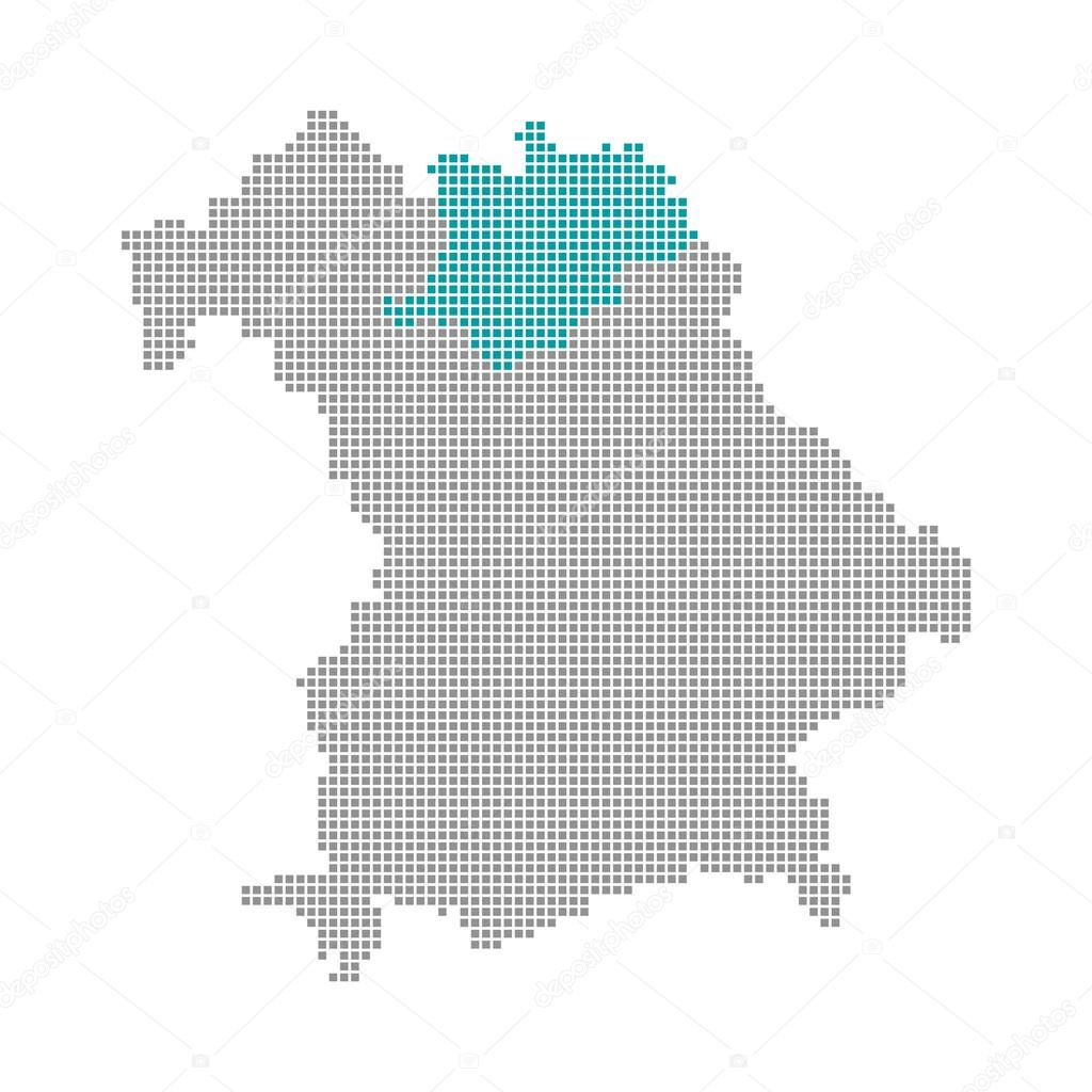 Oberfranken Karte.Pixel Karte Bayern Oberfranken Stockfoto Keport 94408584