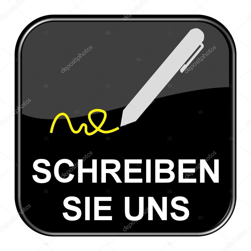 Black Button Write us german — Stock Photo © keport #94410134