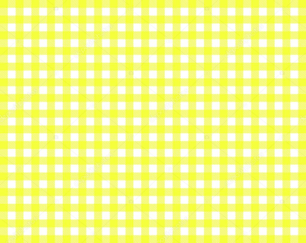 Texture Of Tablecloth Yellow White U2014 Stock Photo
