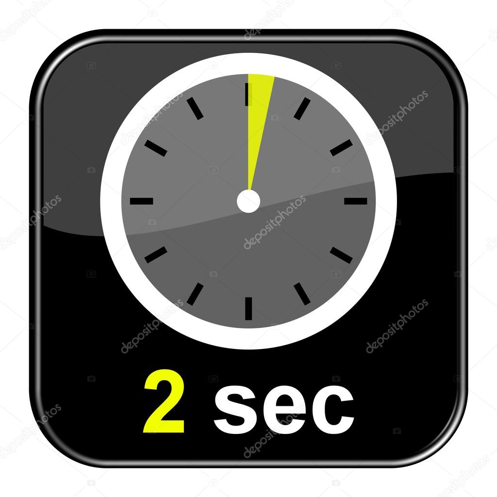 Stopwatch Button 2 seconds — Stock Photo © keport #94615362