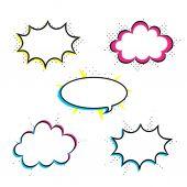 prázdné barevné bubliny
