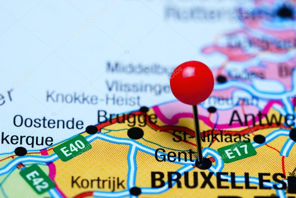 Carte Belgique Gent.Gand A Effectue Le Tombe Sur Une Carte De Belgique