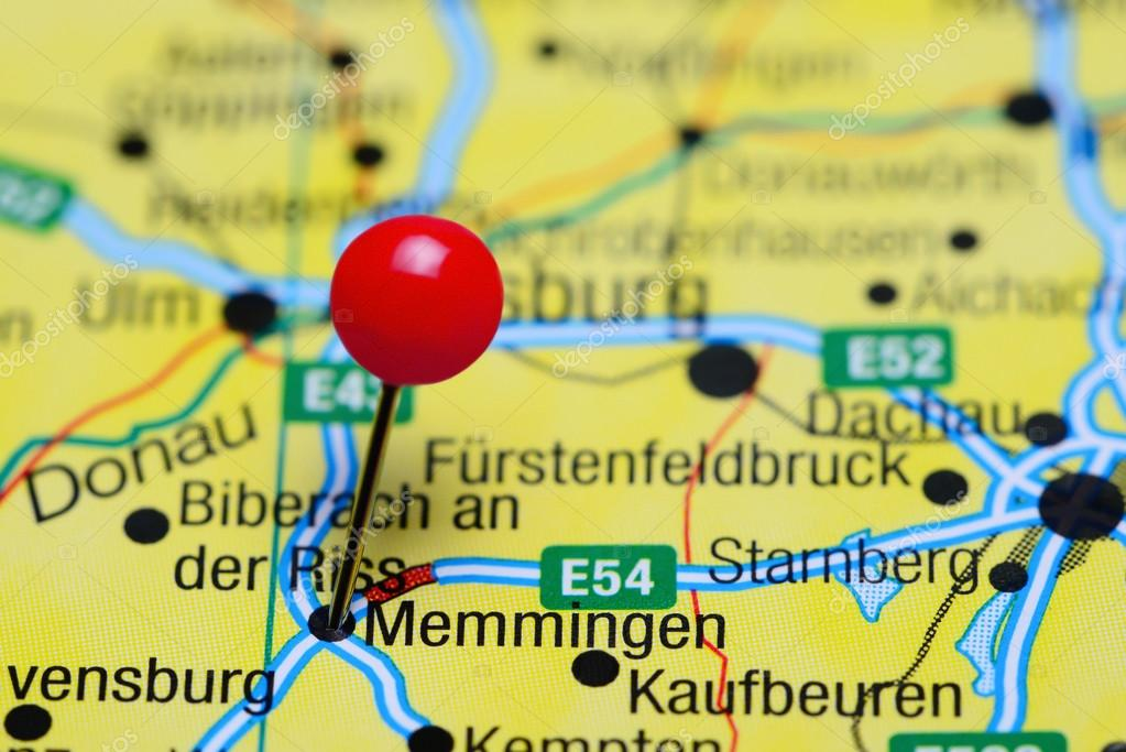 Map Of Germany Memmingen.Memmingen Pinned On A Map Of Germany Stock Photo C Dk Photos