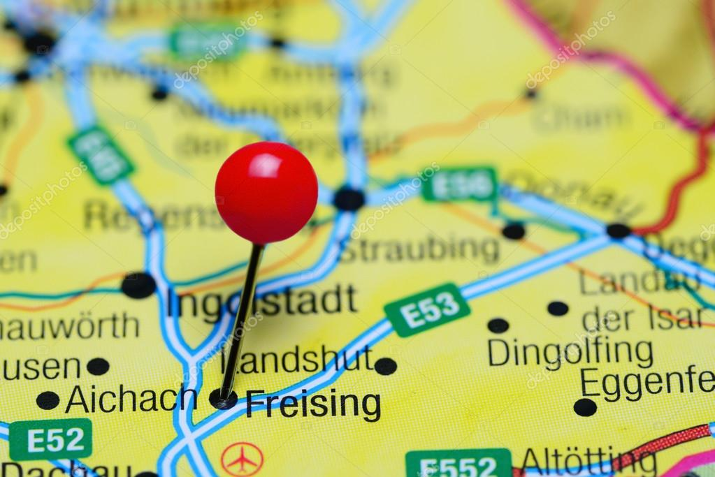Freising Germany Map.Freising Pinned On A Map Of Germany Stock Photo C Dk Photos 102396866
