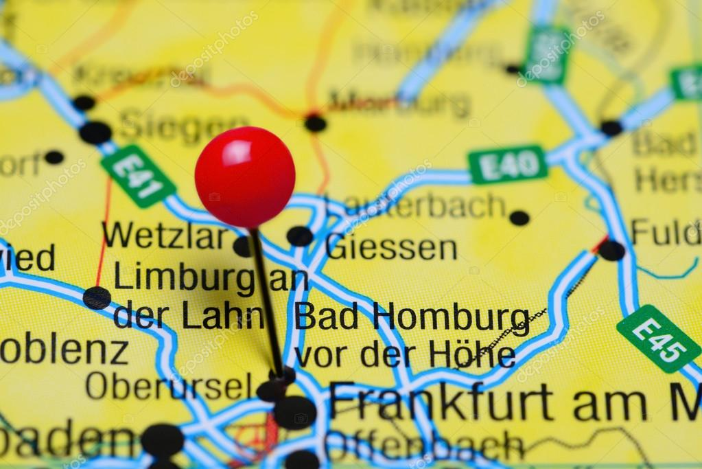 Bad Homburg Germany Map.Bad Homburg Vor Der Hohe Pinned On A Map Of Germany Stock Photo