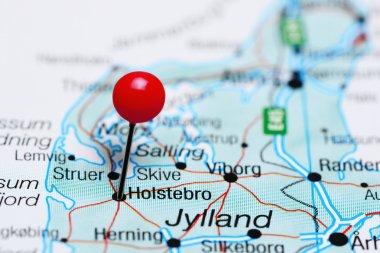 Holstebro pinned on a map of Denmark