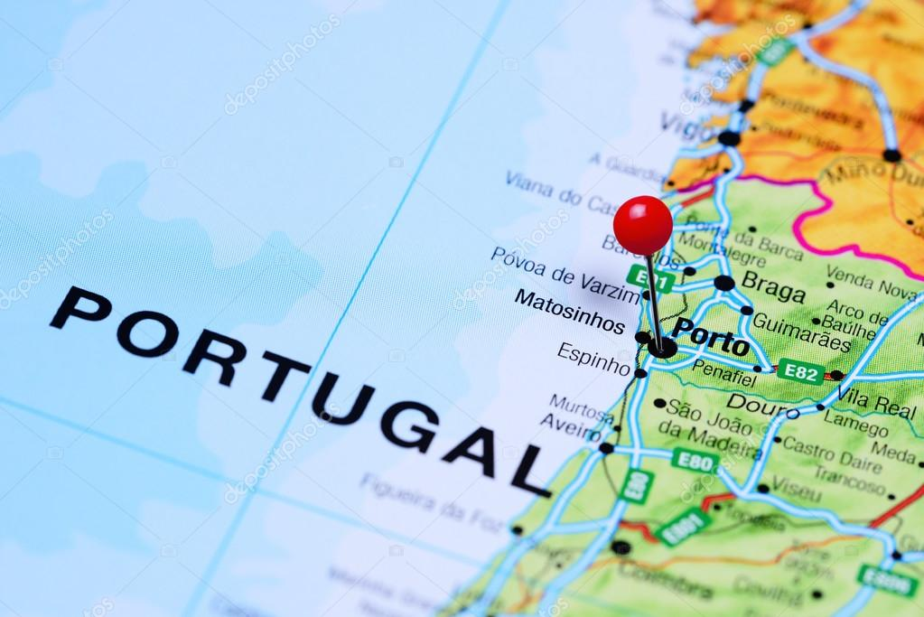 Porto Pinned On A Map Of Portugal Stock Photo C Dk Photos 105934098