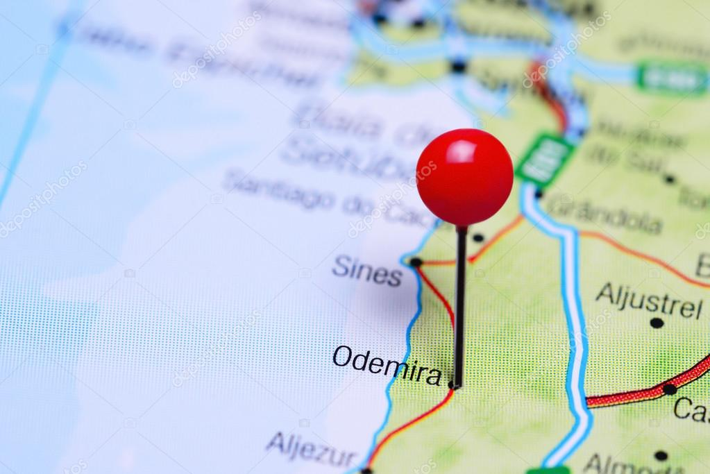 Odemira Pinned On A Map Of Portugal Stock Photo C Dk Photos