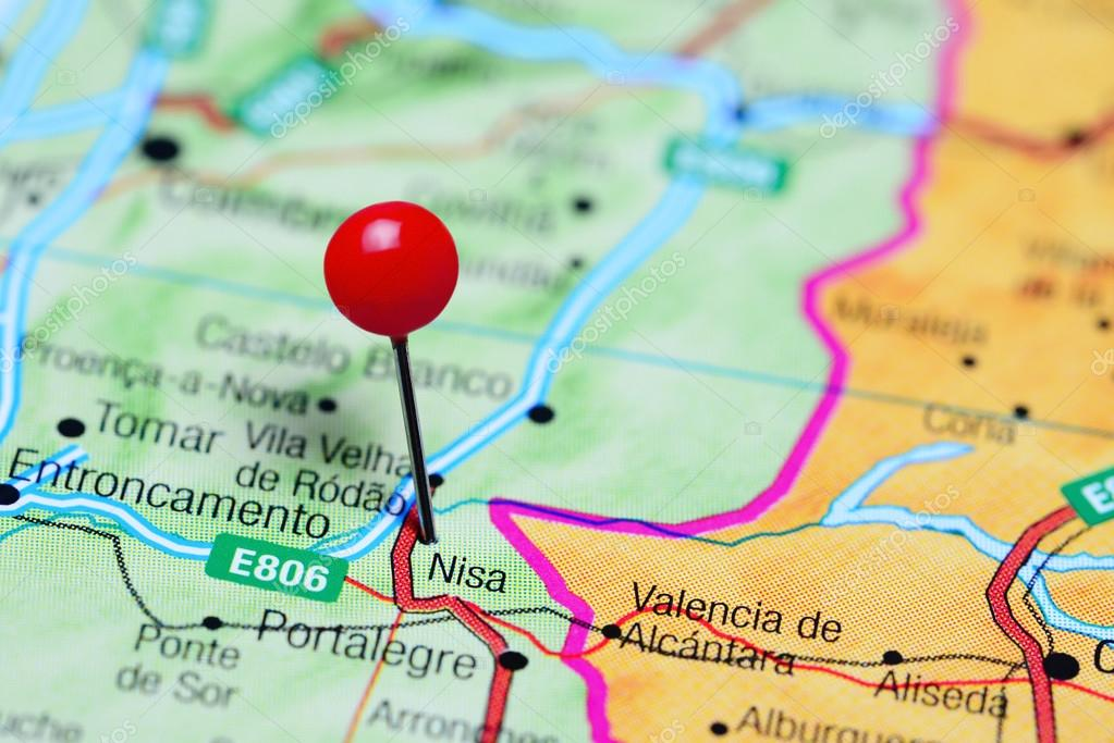 Nisa Pinned On A Map Of Portugal Stock Photo C Dk Photos 105934630