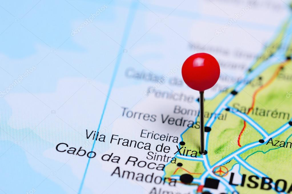 Vila Franca De Xira Pinned On A Map Of Portugal Stock Photo