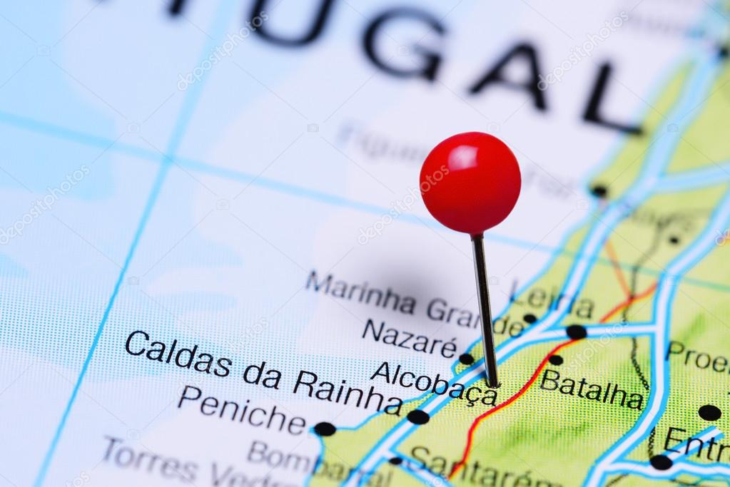 Alcobaca Pinned On A Map Of Portugal Stock Photo C Dk Photos