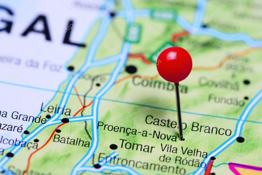 mapa de proença a nova Fez o PIN em Proença a Nova no mapa de Portugal — Fotografias de  mapa de proença a nova