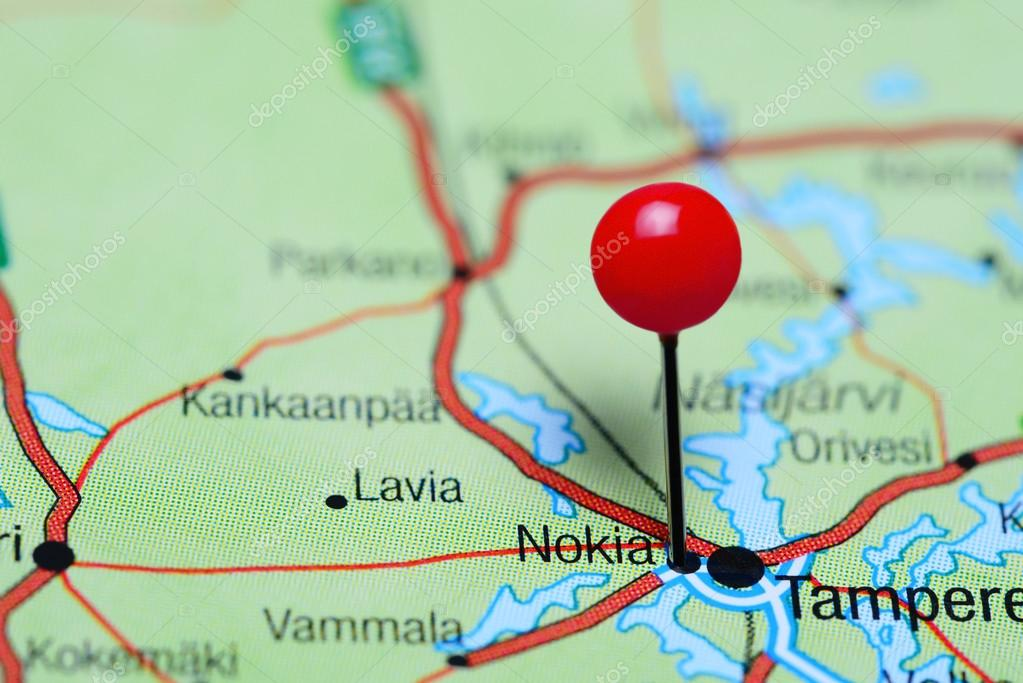 Nokia pinned on a map of finland stock photo dkphotos 106586312 nokia pinned on a map of finland stock photo gumiabroncs Gallery