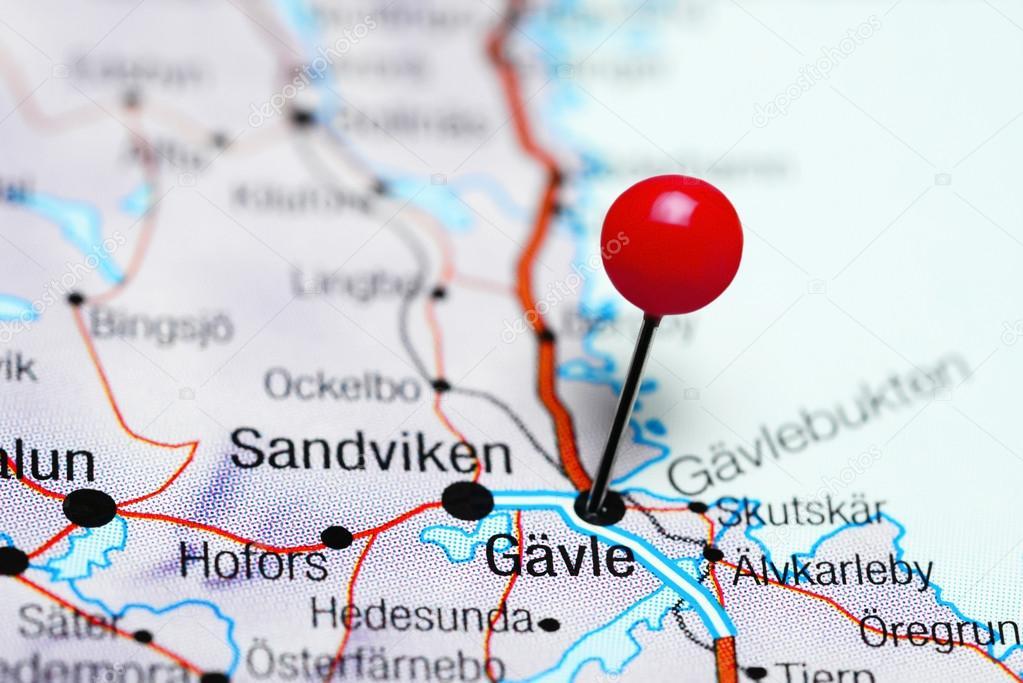 Karta Kivik Sverige.Gavle Fasts Pa En Karta Over Sverige Stockfotografi C Dk Photos