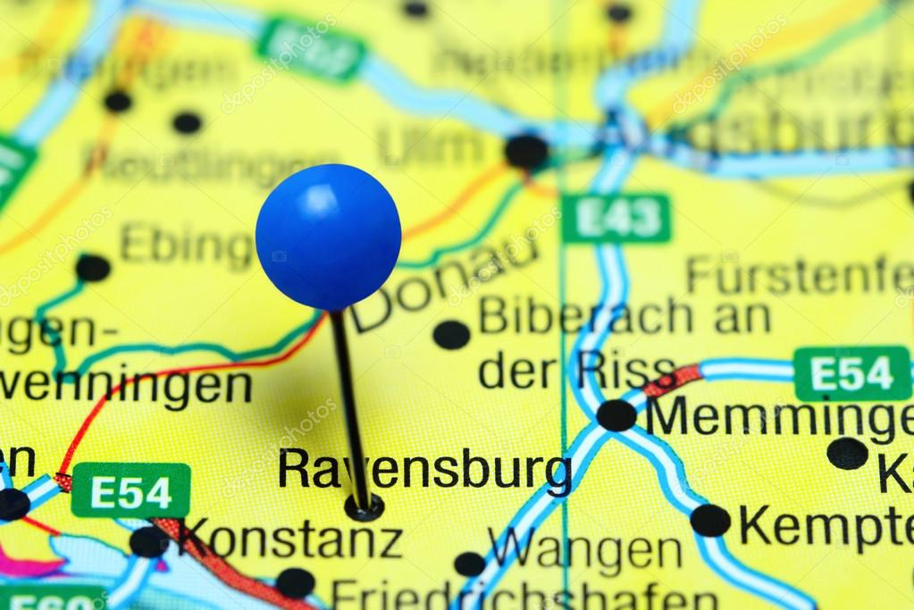 Ravensburg Pinned On A Map Of Germany Stock Photo C Dk Photos