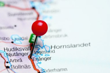Enanger pinned on a map of Sweden