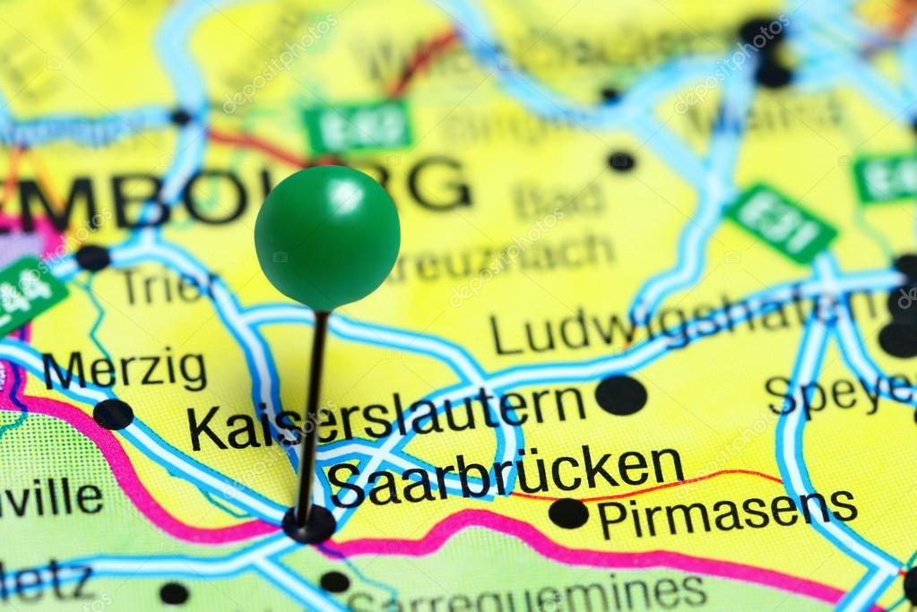Saarbrucken Germany Map.Saarbrucken Pinned On A Map Of Germany Stock Photo C Dk Photos
