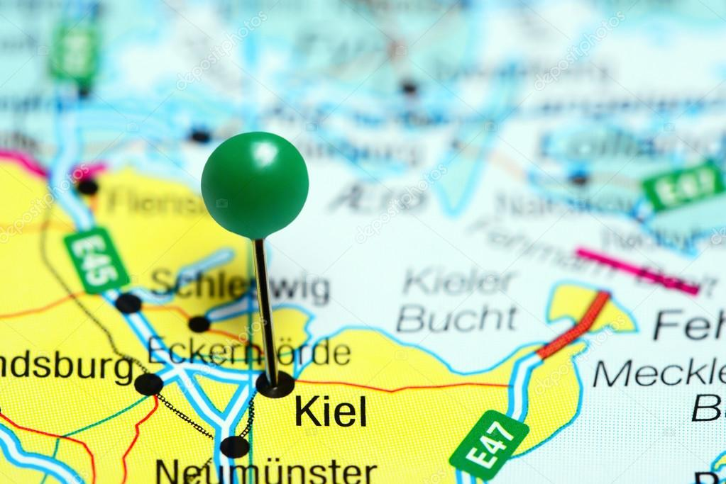 Carte Allemagne Kiel.Kiel A Effectue Le Tombe Sur Une Carte De L Allemagne